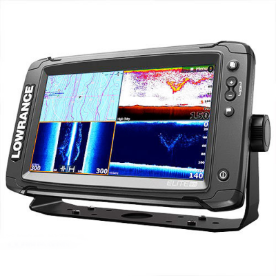 Lowrance Elite-9Ti Mid/High/TotalScan вид сбоку