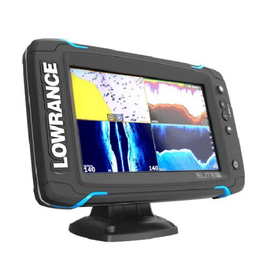 Lowrance Elite-7Ti Mid/High/TotalScan вид сбоку